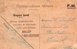 CP-  Correspondance Militaire- - Guerra Del 1939-45