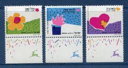 Israël - YT N° 1091 à 1093 - Neuf Sans Charnière - 1989 - Israel