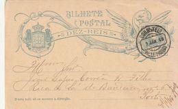 PORTUGAL - ENTIER POSTAL / BILHETE POSTAL - Valle-Passos Le 09/01/1908 - Enteros Postales