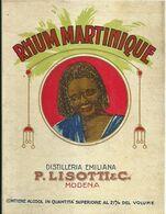 "8933"" RHUM MARTINIQUE-DISTILLERIA EMILIANA P- LISOTTI & C.-MODENA ""- ETICHETTA ORIGINALE - Other"