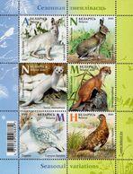 Belarus - 2020 - Wild Animals Seasonal Variations - Mint Stamp Sheetlet - Belarus