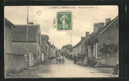 CPA Le Breil-sur-Merize, Rue De La Lande, Vue De La Rue - Sin Clasificación