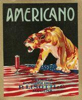 """8935"""" AMERICANO-PREMIATA DISTILLERIA EMILIANA P- LISOTTI & C.-MODENA """"- ETICHETTA ORIGINALE - Other"""