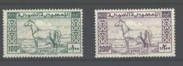 Syria: 1946 100p, 200p Top Values Sg431-2 Um C£95 - Syria