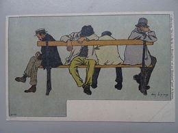 """Carte Postale Amédée Lynen """"De-ci De-là"""" N° 46 Soir D'été (Bruxelles) - Lynen, Amédée-Ernest"""