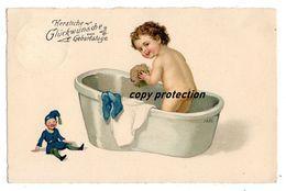 M. FL., Marie Flatscher, Glückwunsch Geburtstag, Meissner U. Buch Künstler Postkarten Serie 2701, 1927 - Künstlerkarten