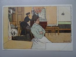 """Carte Postale Amédée Lynen """"De-ci De-là"""" N° 55 Sur Le Tard (scène De Café) - Lynen, Amédée-Ernest"""