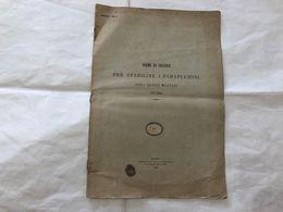 NORME PER STABILIRE I PARAFULMINI SUGLI EDIFIZI MILITARI MIN. DELLA GUERRA 1893. - Livres, BD, Revues