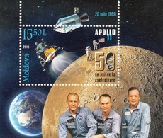 Moldova 2019 Space 50th Ann. Of The Moon Landing Apollo 11 Minisheet MNH - Europe