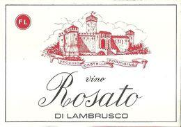 """8941"""" VECCHIO CASTELLO FORMIGINE-VINO ROSATO DI LAMBRUSCO """"- ETICHETTA ORIGINALE - Other"""