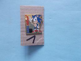 "PIN'S - SEGA   Sonic "" Pub KELLOGGS -   Voir Photo ( 1) - Spelletjes"