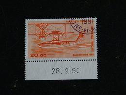 FRANCE YT PA 58b OBLITERE - HYDRAVION CAMS 53 - 1960-.... Matasellados
