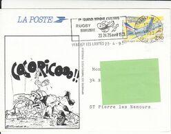 PRÊT A POSTER RUGBY BOURGOGNE 1er TOURNOI MONDIAL D'ENFANTS VENAREY 23 AVRIL 1993 - Biglietto Postale