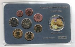 Estonia 2011 Euro Set Blister With Coloured Medal Alexander Nevsky Cathedral BU/UNC - Estonie