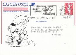 PRÊT A POSTER RUGBY BOURGOGNE 1er TOURNOI MONDIAL D'ENFANTS VENAREY 24 AVRIL 1993 - Biglietto Postale