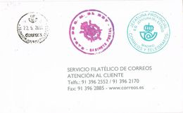 37396. Carta Franquicia CASA Del REY, Jefatura Del Estado  MADRID 2001 - 2001-10 Usati