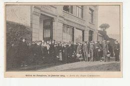 GREVE DE FOUGERES - 25 JANVIER 1914 - SORTIE DES SOUPES COMMUNISTES - 35 - Fougeres