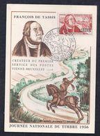 Carte Federale Journee Du Timbre 1956 Colomb Bechar - Maximumkarten