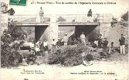 Carte POSTALE Ancienne De  SIGNES - Tirs De Combat De L'Infanterie Coloniale à CHIBRON, Restaurant Bel Air - Signes