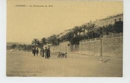 CANNES - La Promenade Du Midi (belle Carte Toilée ) - Cannes