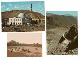 AFGHANISTAN 4 CP 1972 COL DE SALANG , KABOUL Mosquée, Porteuse D'eau, Scène De BOUSKHACHI Au Stade De Kaboul - Afghanistan