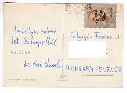 M669 India Carte Postale Postcard With Mahatma Gandhi Stamp - Mahatma Gandhi