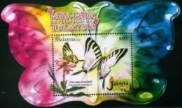 Malaysia 2008 Butterflies SS Jakarta MNH - Malaysia (1964-...)