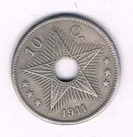 10 CENTIMES 1912   BELGISCH CONGO /6511/ - Congo (Belgian) & Ruanda-Urundi