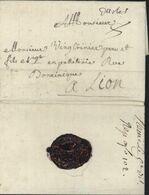Bouches Du Rhône 13 Manuscrit D'Arles Pour Lyon 1 10 1780 Taxe Manuscrite 8 Cachet Double Armoiries Lenain N°1 - 1701-1800: Precursors XVIII