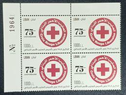 Lebanon 2020 New MNH Stamp - 75th Anniv Of Lebanese Red Cross & Coronavirus Covid-19 Crisis - Corner Blk-4 W/ Number - Lebanon