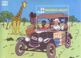 "Belgio 2001 - Fumetti ""Tin Tin In Congo"" Di Hergé. Foglietto MNH** Integro - Belgium"