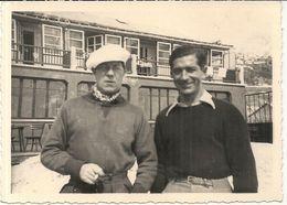 CPA PHOTO . JEAN GABIN ET ROLLAND ALLARD .EQUIPE FRANCE SKI AU JO 1936 - Künstler