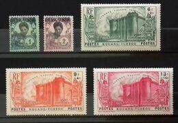 KOUANG-TCHEOU Timbres Neufs * * (MNH) Numéros Yvert Et Tellier 71, 72, 120, 122, 123 Cote 63,00 Euros. - A.E.F. (1936-1958)