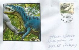 Prehistory In Europe.Plateosaurid Dinosaur,Triassic Period, Letter From Sweden - Prehistorics