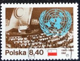 Polska - Poland - P2/20 - (°)used - 1980 - Michel Nr. 2713 - 35 Jaar Verenigde Naties - 1944-.... Republic