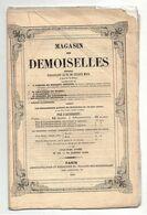 Journal Magasin Des Demoiselles N°10 De 1849 Théâtres étrangers Guillaume Tell De Schiller - Variétés Caractère Fleurs - 1800 - 1849