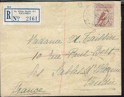 Australie  -1937 - Affranchissement 6 D Sur Enveloppe Recommandée De Victoria Pour Les Sables D'Olonne -Cachets D'arrivé - Covers & Documents