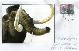 Prehistory In Europe.Woolly Mammoth Stamp,  Pleistocene Period, Letter From Sweden - Covers & Documents