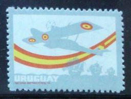 1976 URUGUAY Mnh Variety Variete Variedad Without Black Color - Plus Ultra Avion Aircraft Aviation Flugzeug - Yv 936b - Uruguay