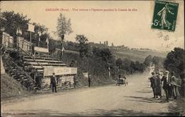 Cp Gaillon Eure, Une Voiture A L'epreuve Pendant La Course De Cote - Frankreich
