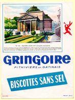 Buvard Biscottes Gringoire Sans Sel. N° 45, Square Louis XVI. - Biscottes