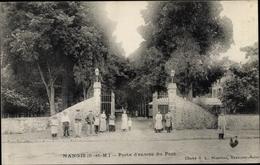 Cp Nangis Seine Et Marne, Porte D'Entree Du Parc - Sonstige Gemeinden