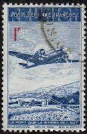 Réunion Obl. N° PA 11 - Avion Survolant Le Pont De L'Est 1f Bleu Et Rouge - Reunion Island (1852-1975)
