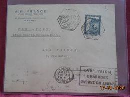 Lettre De 1935 D'Espagne à Destination De Paris - Storia Postale