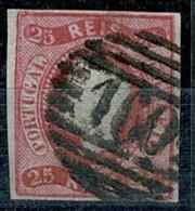 """Portugal, 1866/7, # 22, Alter Do Chão """"160"""", Used - Usado"""