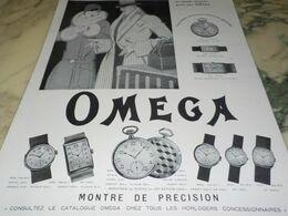 ANCIENNE PUBLICITE LE MONDE ELEGANT MONTRE OMEGA  1929 - Juwelen & Horloges