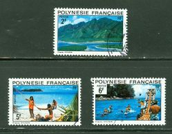 Paysages / Scenery; Polynésie Française / French Polynesia; Scott # 278-280; Usagés (3409) - Polinesia Francese