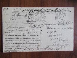 Le Havre Cachet Dépot 120è-320è-16è - Régiment Territorial D'Infanterie TAD Gare - Franchise Militaire - Vattier Ancenis - Guerra Del 1914-18