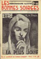 Hebdomadaire Illustré -  Les Bonnes Soirées - 1941 - 2 Pages Publicité Journal Spirou - (4833) - Magazines