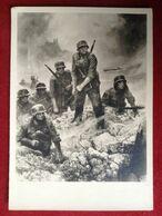 Propagandakarte Übergang Am Oberrhein 1940 Soldaten Im Kampf München Haus Der Deutschen Kunst - Guerra 1939-45
